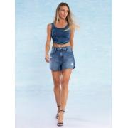 Shorts Jeans Feminino Desfiado Emy