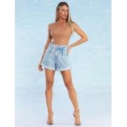 Shorts Jeans Feminino com Barra Dobrada Florence