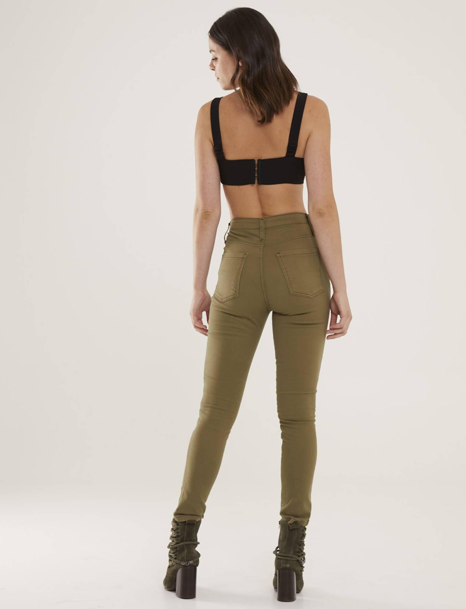 Calça Jeans Militar Feminina Skinny Lisa