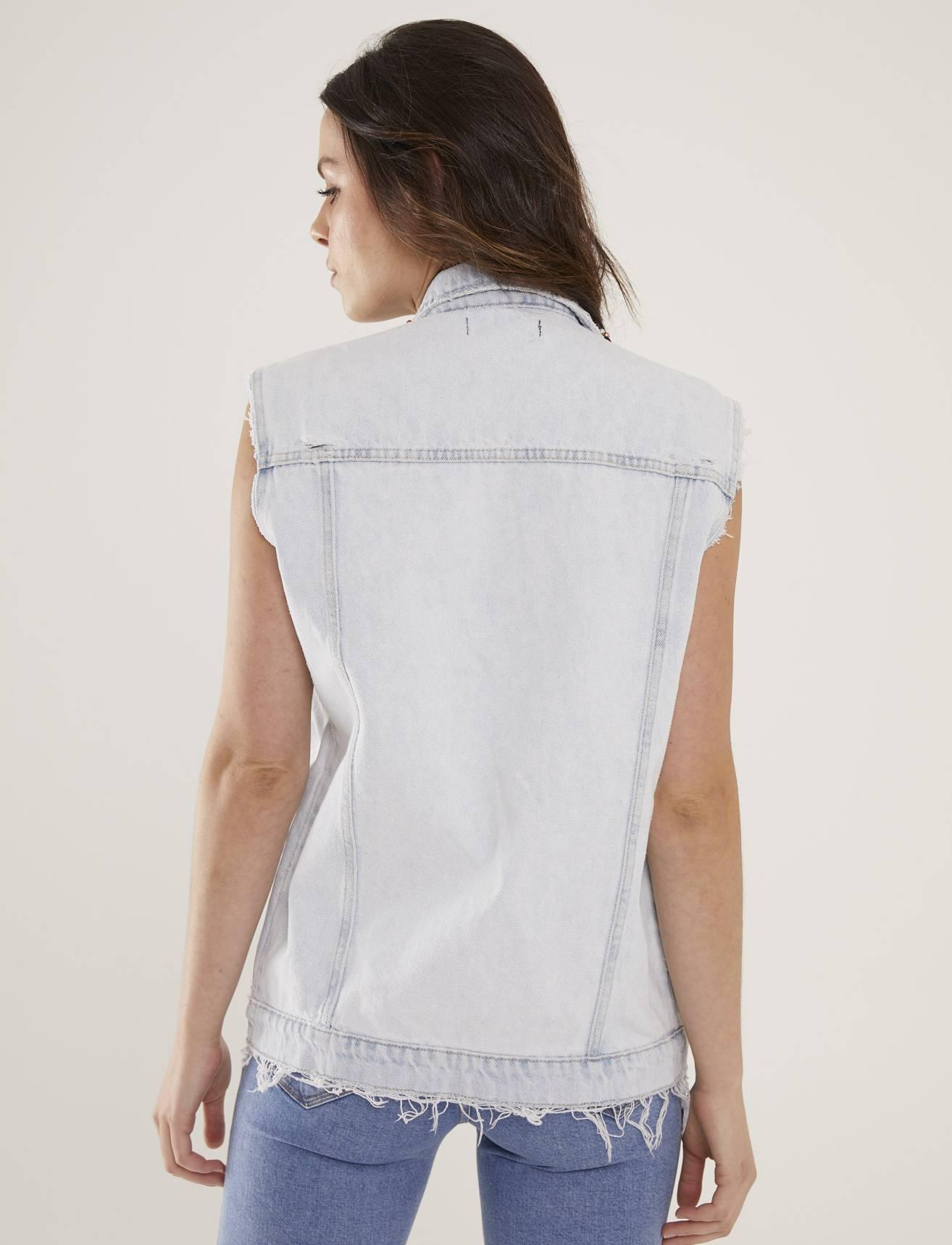 Colete Jeans Feminino Bordado Atelier Turmalina