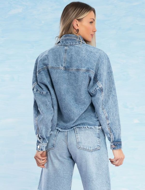 Jaqueta Jeans Feminina Oversized Lara