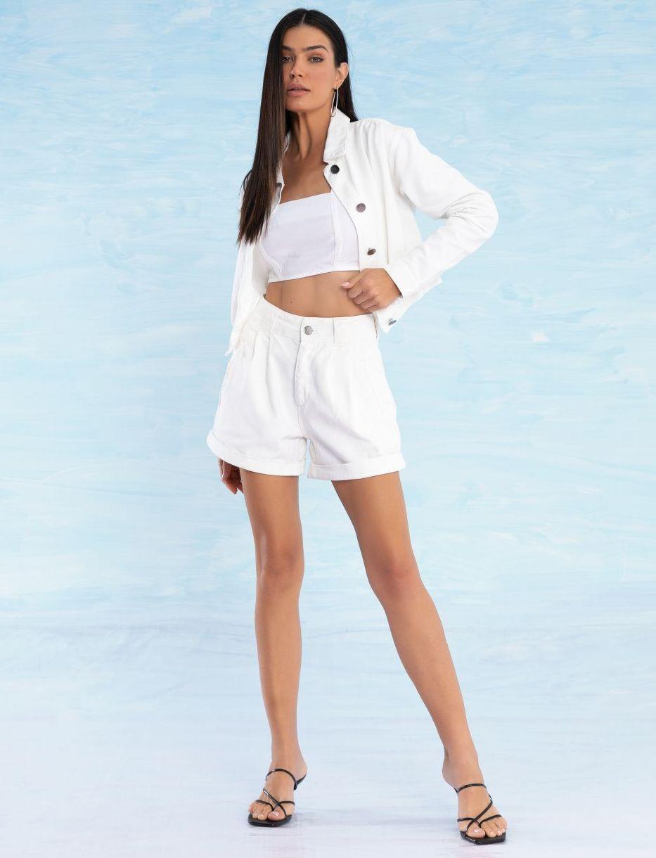 Shorts Jeans Feminino Off White Anabelle
