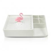 Organizador Multiuso Flamingo de Mesa Lifestyle Jacki Design