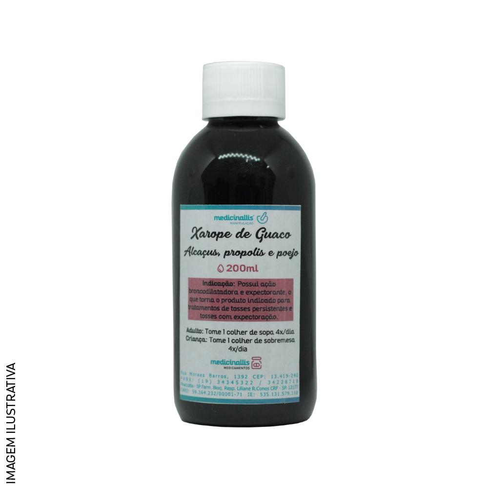Xarope (Comum ou Diabético) de Guaco, Alcaçuz, Própolis e Poejo 200ml