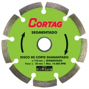 Disco de Corte Diamantado Segmentado 110 mm - Cortag 60973