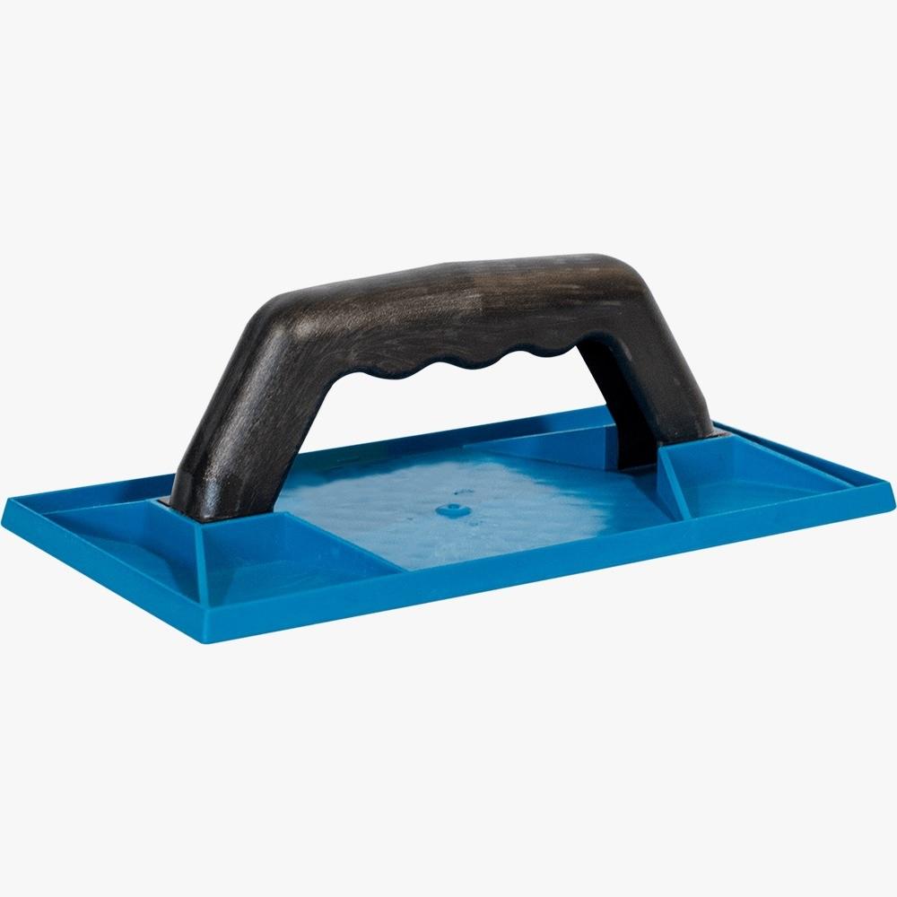 Desempenadeira de Plástico Corrugada Azul 18 X 30cm Baricar-Plast