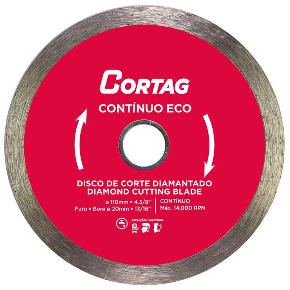 Disco de Corte Diamantado Contínuo Eco 110mm - Cortag 61548