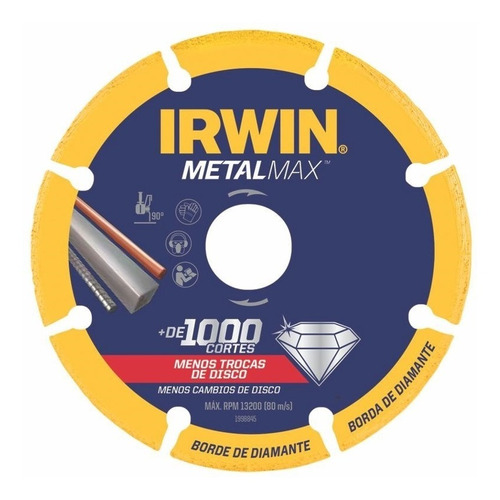 """Disco De Corte Diamantado Metalmax Irwin 7 X 7/8"""""""