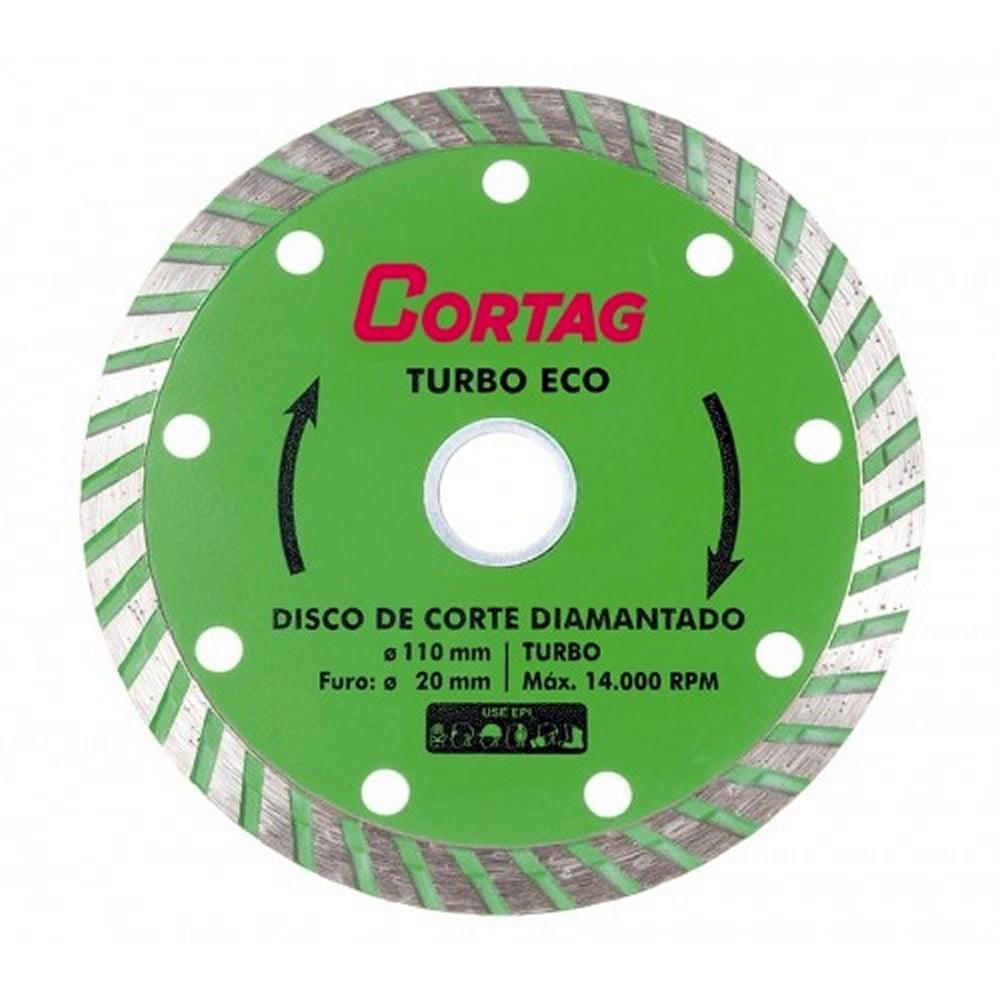 Disco de Corte Diamantado Turbo Eco 110mm x 20mm - Cortag 60