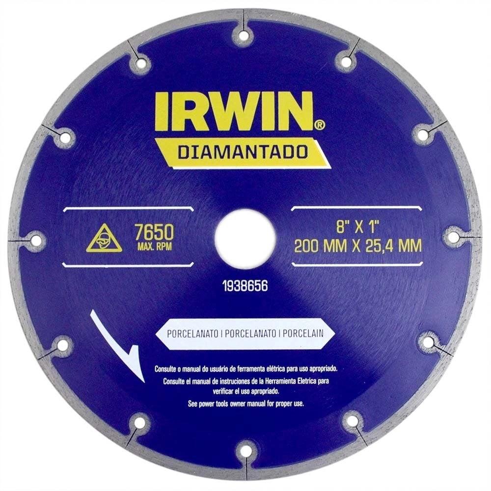 "Disco Diamantado para Porcelanato 8"" IRWIN - 1938656"