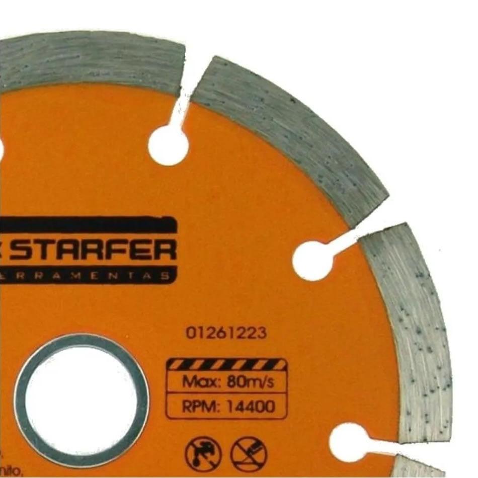 Disco Diamantado Segmentado Starfer 110 X 20 Mm Corte a Seco