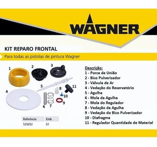Kit De Reparo Frontal Para Pistolas De Pintura Wagner