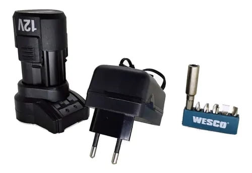 Parafusadeira Furadeira 12v Bivolt WS2532 Wesco