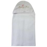 Toalha de Banho Bebê c/ Capuz Bordado Alicia Toque Aveludado