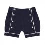 Shorts Bebê Algodão Pima Azul Marinho