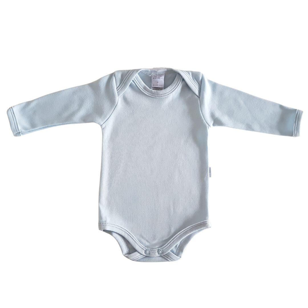 Body Bebê Algodão Egípcio Longo Azul