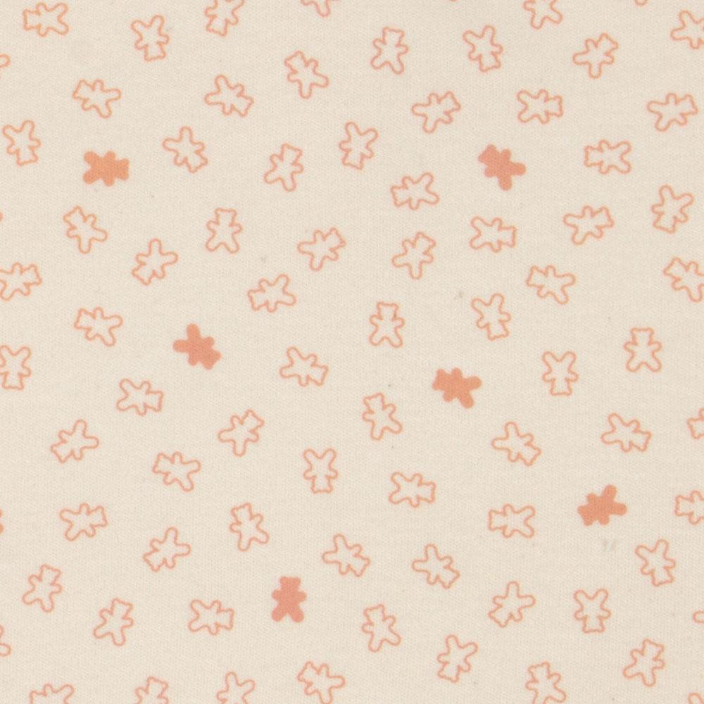 Macacão Algodão Orgânico Longo Pólo Estampado Urso Rosa