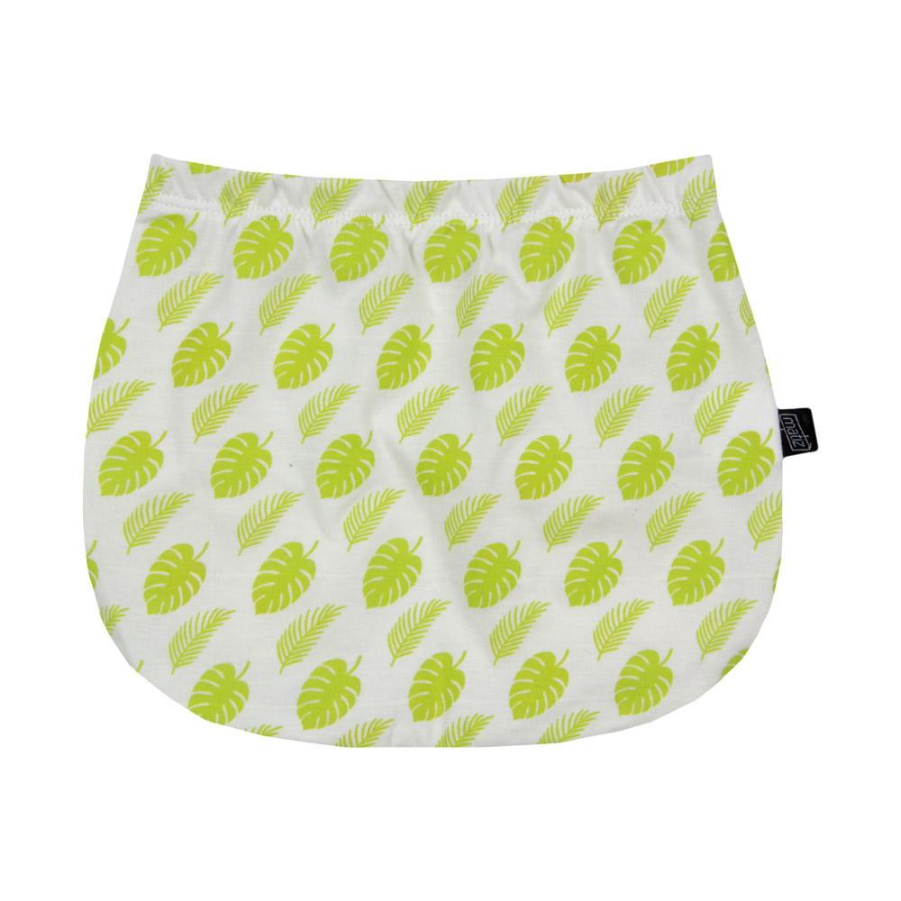 Short Bebê Tapa-Fralda em Algodão Orgânico Estampada Verde Cítrico