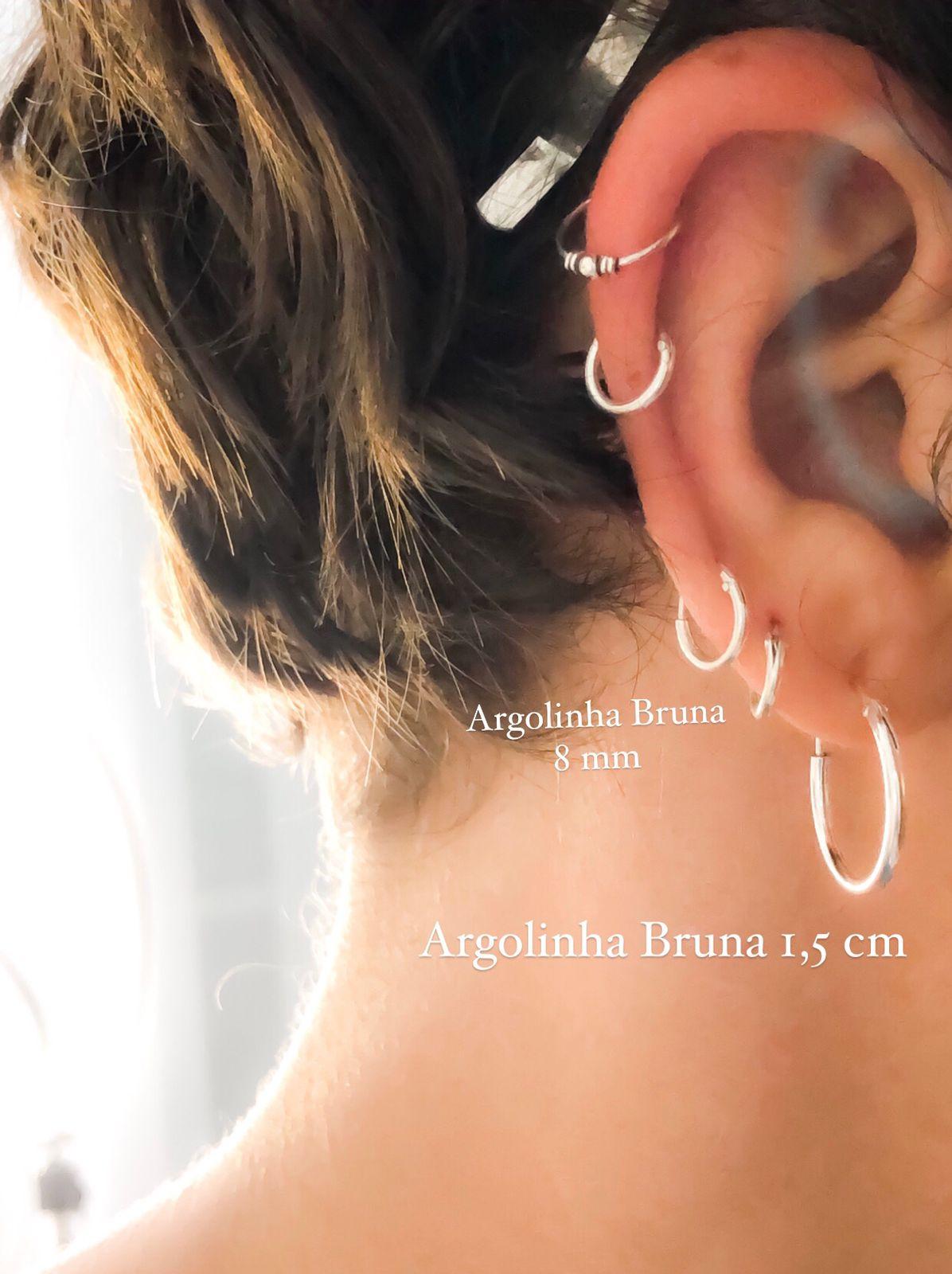 Brinco Argolinha Bruna 1,5 cm Prata 925
