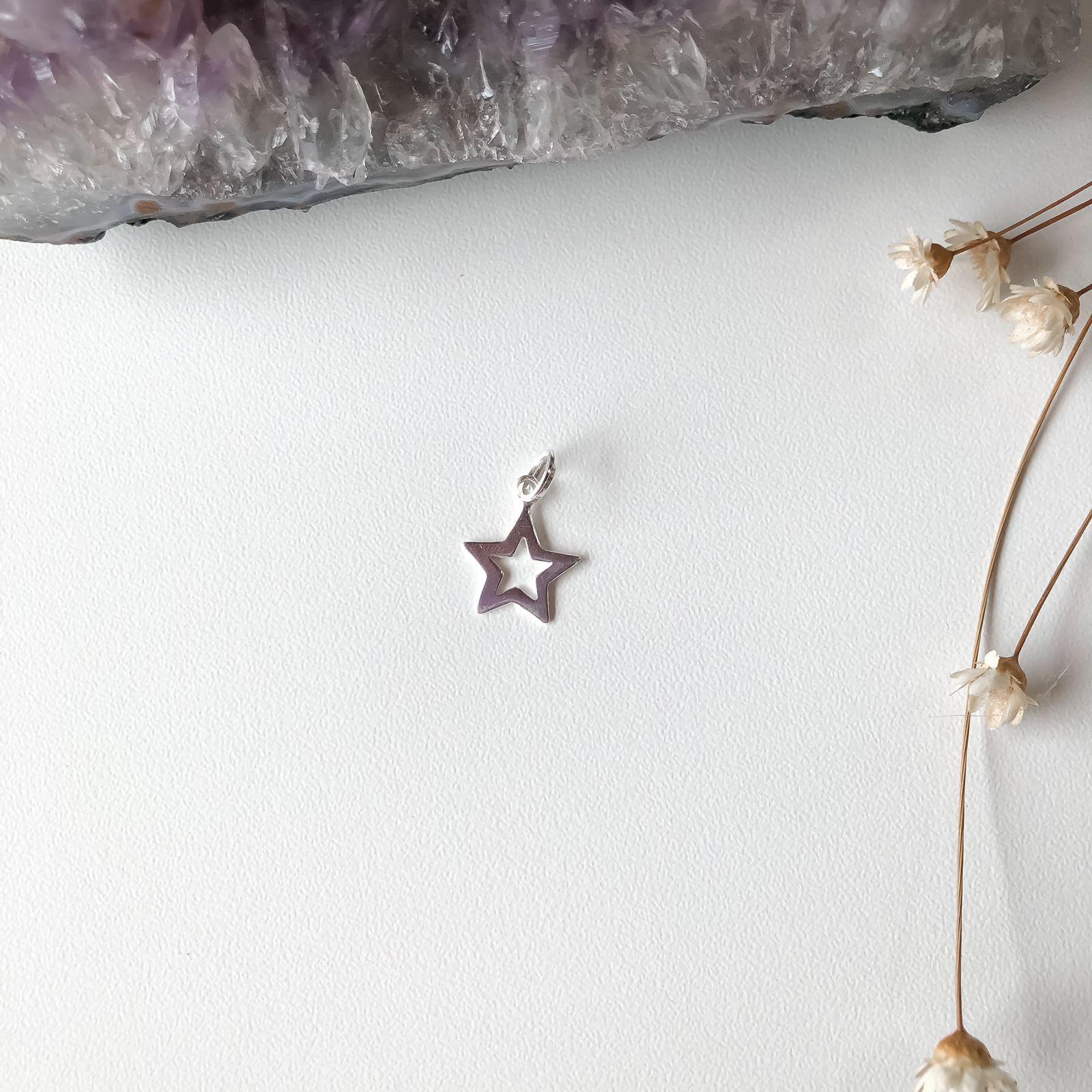 Pingente Estrela Prata 925