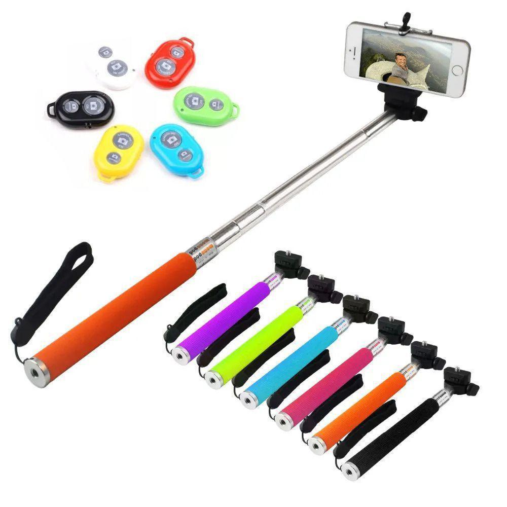 Bastão Selfie Bluetooth - Cores Sortidas