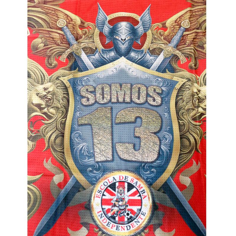Camisa Vermelha Carnaval Escola de Samba Independente Somos 13