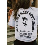 Camiseta Oversized Escolhas Ruins