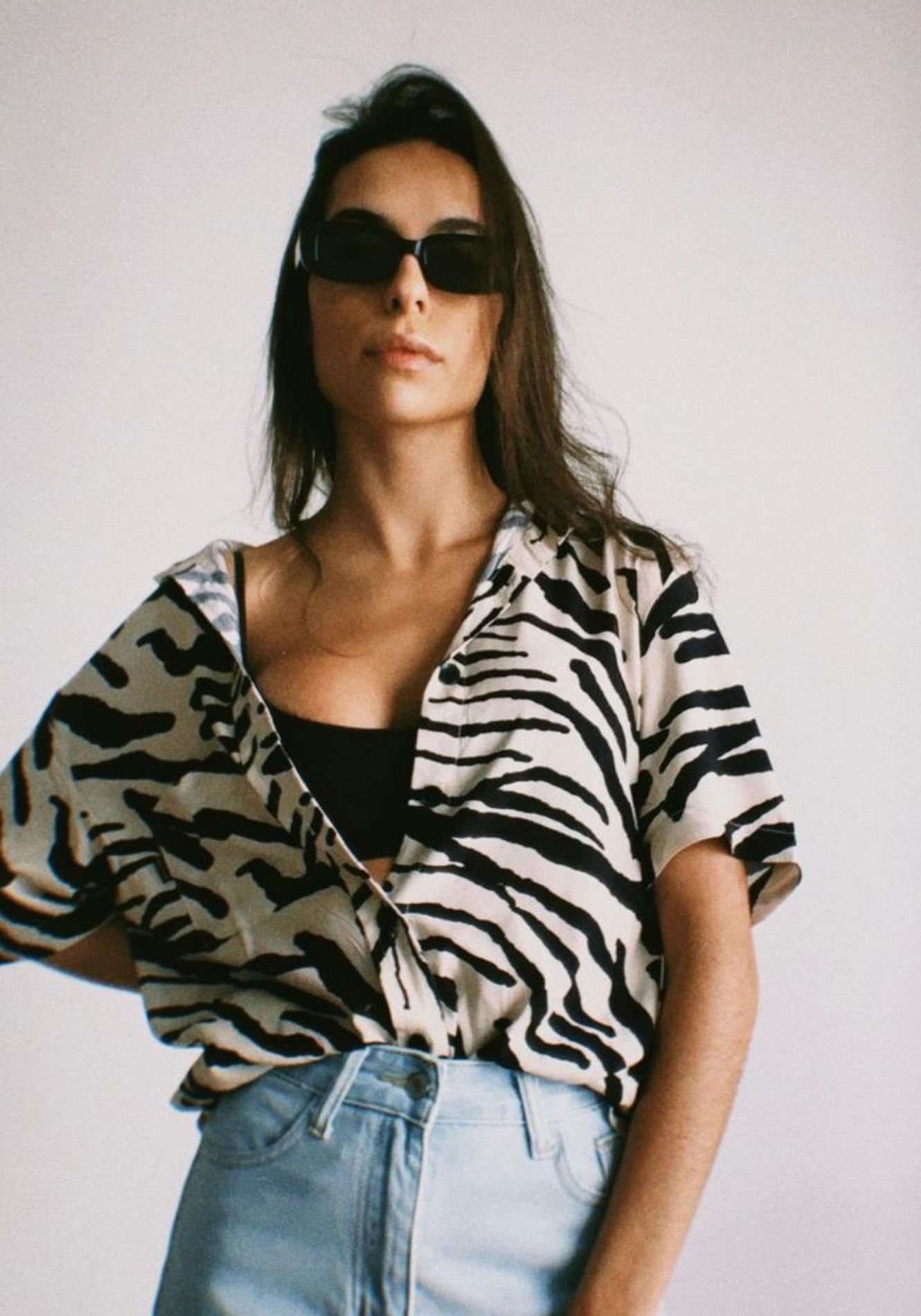 Camisa Zebra Animal Print Gabi