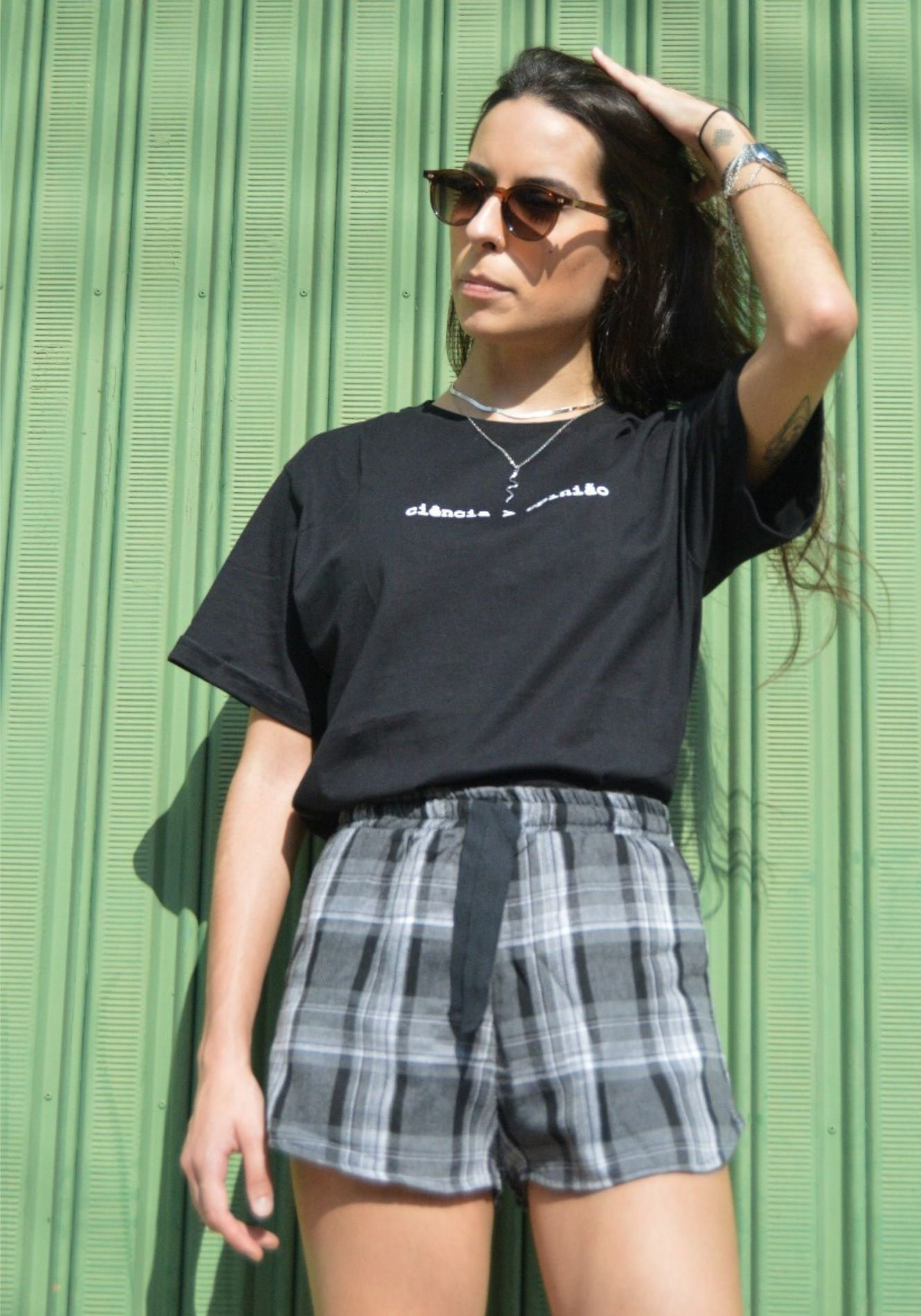 Shorts de Flanela Xadrez
