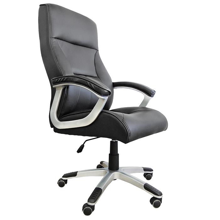 Cadeira Presidente em Couro PU PEL-8028H/3 Preta