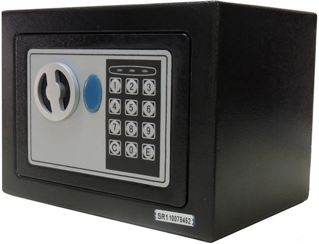 Cofre Eletrônico Digital Pequeno (17x23x17cm) CH-17EF Em Aço