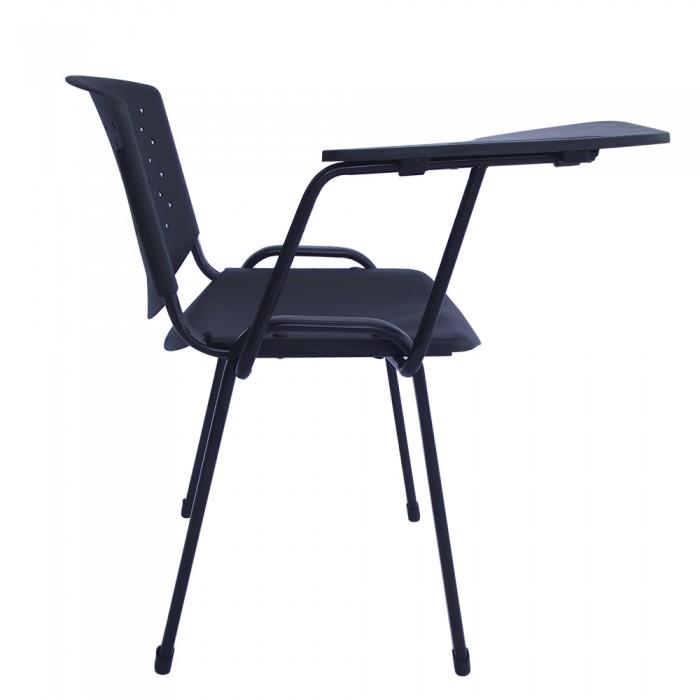 Conjunto com 8 Cadeiras Universitárias em Polipropileno PEL-304-PL Pretas Empilháveis