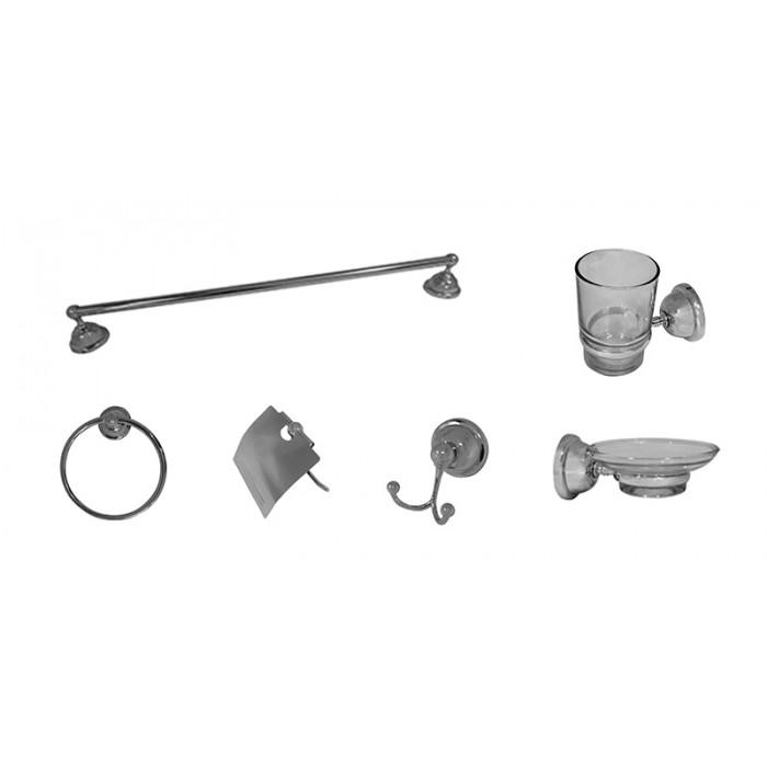 Kit com 6 Acessórios para Banheiro Loomix P-017
