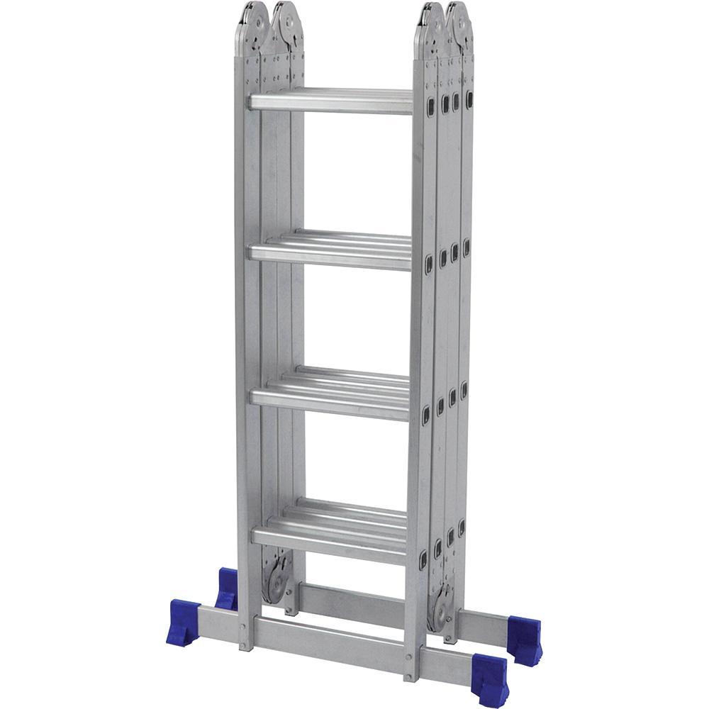 Escada De Alumínio Dobrável 16 Degraus 4x4 AM0116D Pelegrin