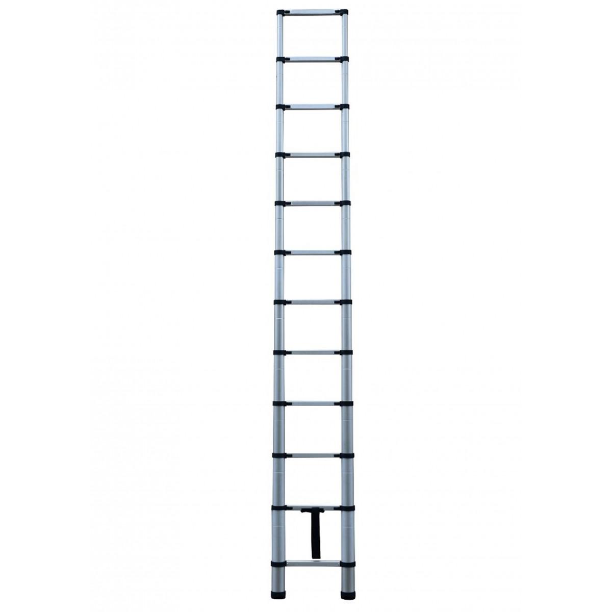 Escada Telescópica de Alumínio 12 Degraus AT0112A Extensível