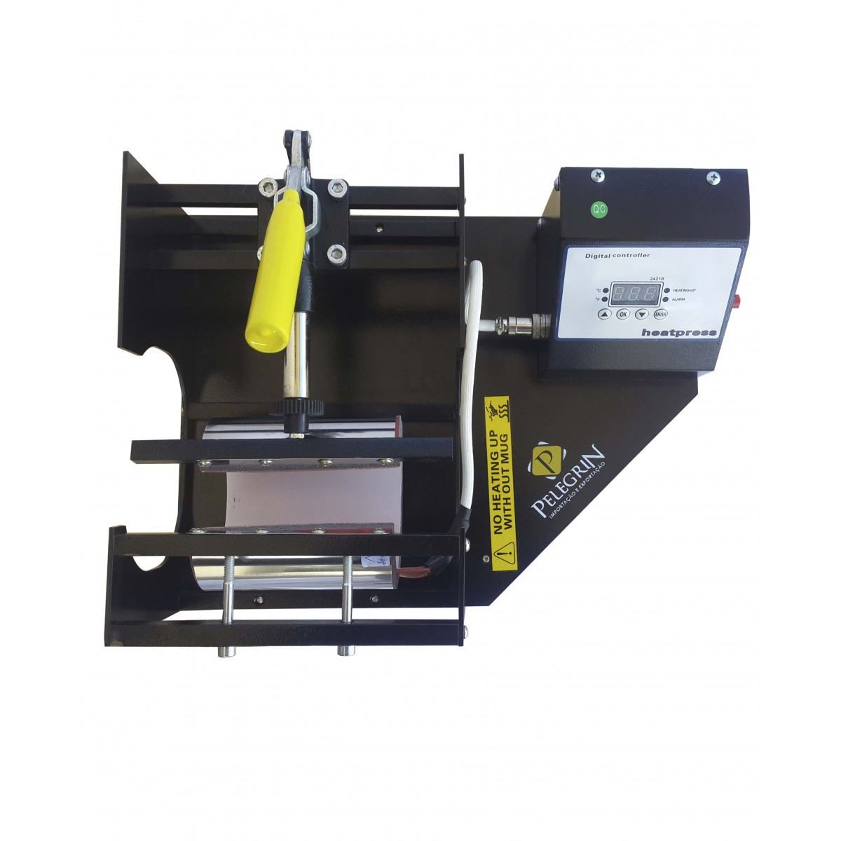 Prensa Térmica para Sublimação 2 em 1 MP-160 (cilíndrica/squeeze alto) Pelegrin