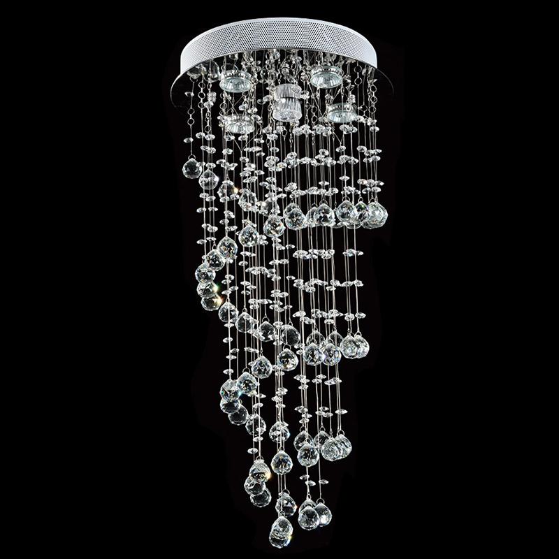 Lustre Nilo com Adornos em Acrílico de Alto Brilho - Cor Cristal