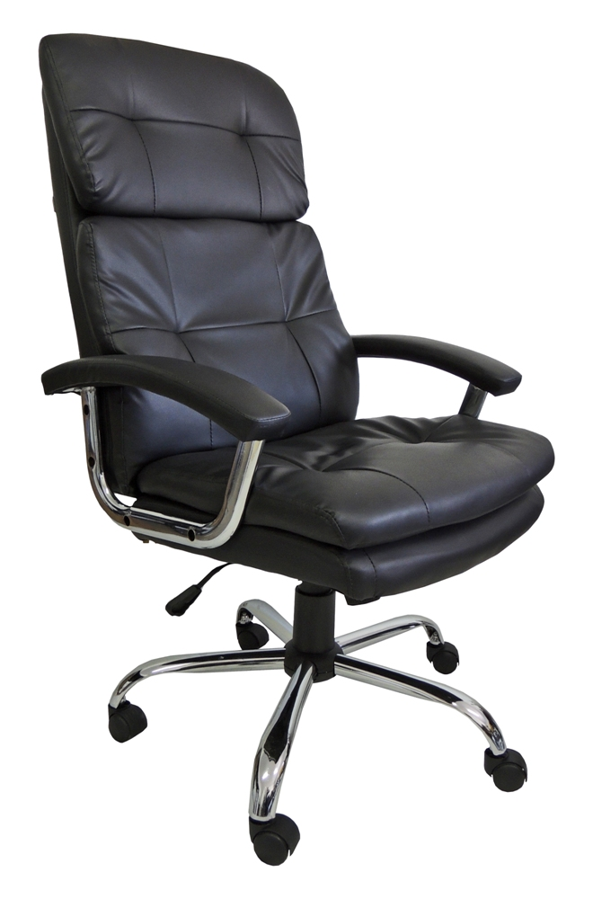 Cadeira Presidente em Couro PU PEL-C2141 Preta