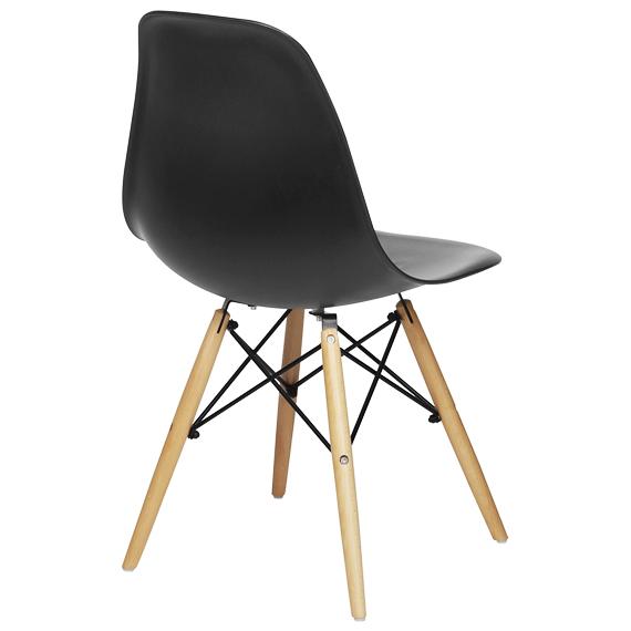 Cadeira em ABS PW-071 Preta Pelegrin com Design Charles Eames Dkr Eiffel
