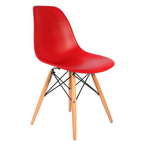 Cadeira em ABS PW-071 Vermelha com Design Charles Eames Dkr Eiffel