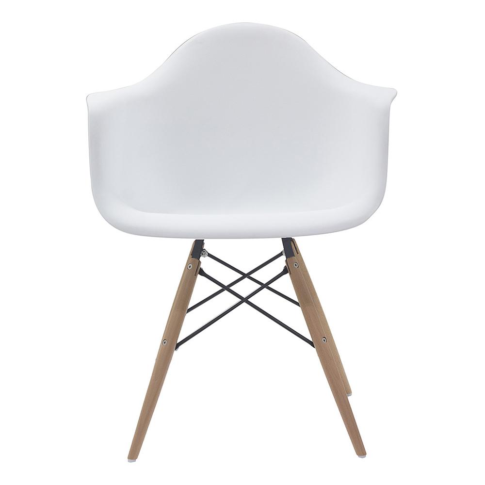 Cadeira em ABS com Braços PW-082 Branca com Design Charles Eames Dkr Eiffel