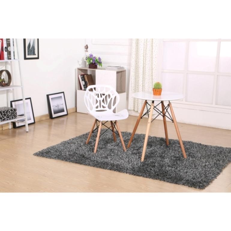 Cadeira em ABS A-001 Branca com Design Moderna Eiffel Dkr Charles Eames