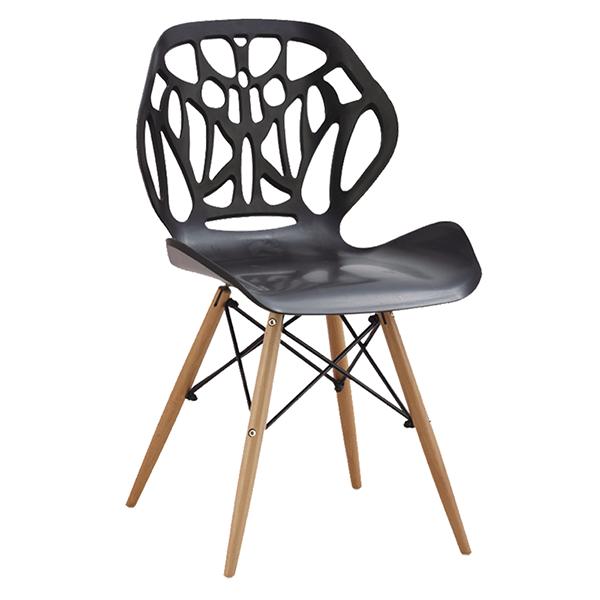 Cadeira em ABS A-001 Preta com Design Moderna Eiffel Dkr Charles Eames