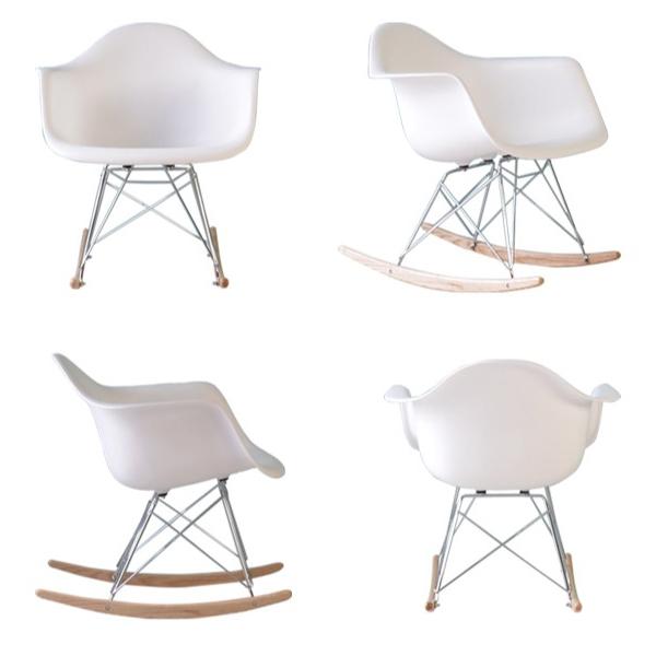 Cadeira em ABS com Balanço PM-084 Branca com Design Charles Eames