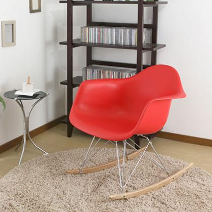 Cadeira em ABS com Balanço PM-084 Vermelha com Design Charles Eames