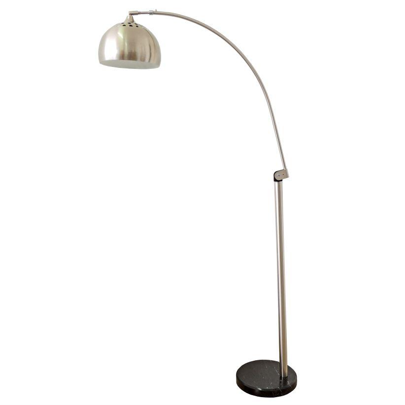 Luminária de Chão Bend Pelegin PEL-022 Metal Alumínio Mármore Preta