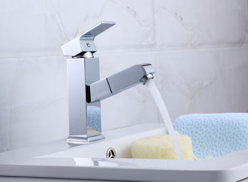 Torneira Retrátil Slim com Misturador Monocomando para Banheiro ou Lavabo Loomix P-042