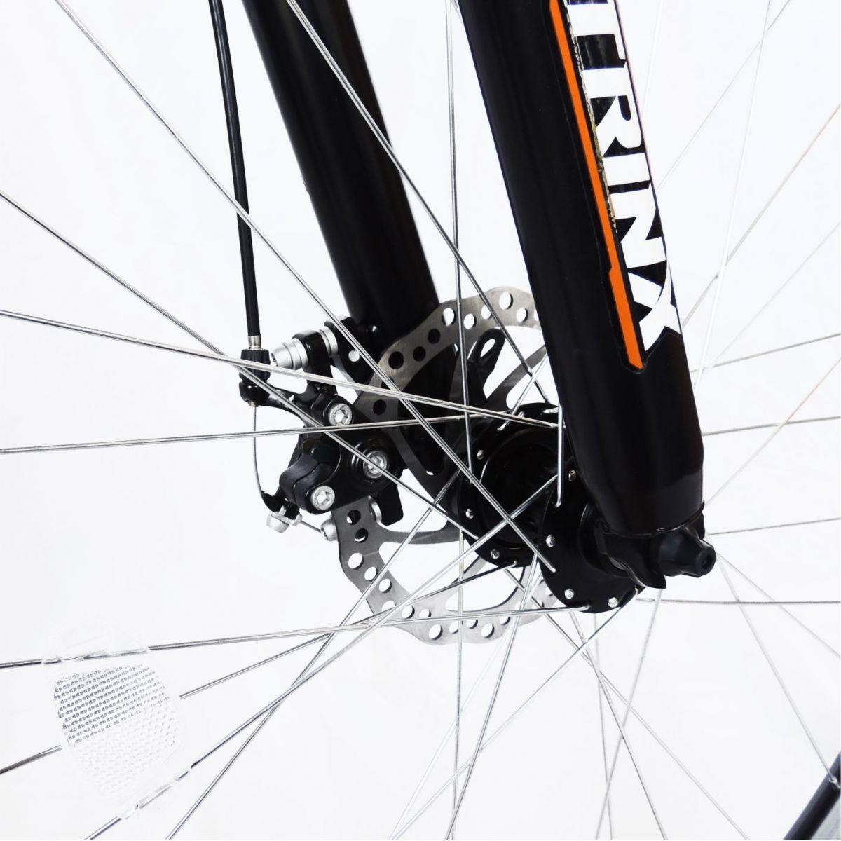 Bicicleta Trinx STI 2.0 Aro 29 Freio/DISC Susp 24V Kit Shimano Preto com Laranja