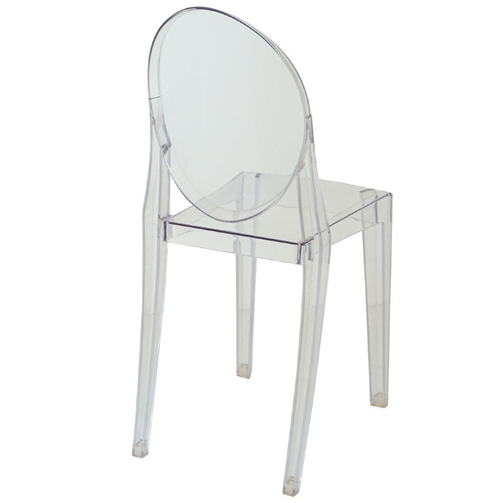 Cadeira Design Victoria Ghost Pelegrin PEL-1752B Fixa - Acrílico Transparente