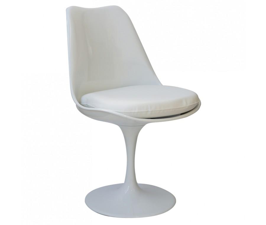 Kit 6 Cadeiras Design Saarinen Pelegrin PEL-1855H Giratória Branca em ABS